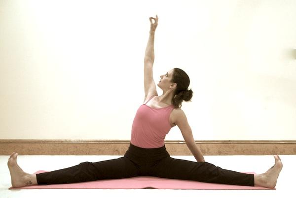Churning Wide Angle Flow Yoga Pose