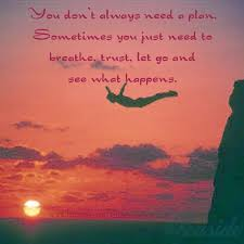 you dont need a plan just let go